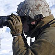 U.s. Marine Looks Art Print