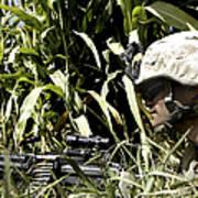 U.s. Marine Maintains Security Art Print