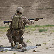 U.s. Marine Prepares A Fragmentation Art Print