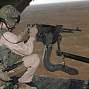 U.s. Marine Test Firing An M240 Heavy Art Print