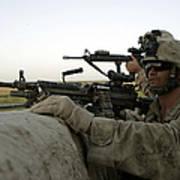 U.s. Marines Observe The Movement Art Print by Stocktrek Images