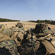 U.s. Marines Participate In A Known Art Print