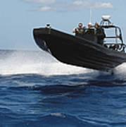 U.s. Navy Sailors Operate A Nine-meter Art Print