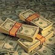 U.s. Paper Money Art Print