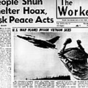 Us Planes Invade Vietnam Skies. An Art Print by Everett