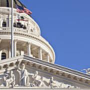 Usa, California, Sacramento, California State Capitol Building Art Print
