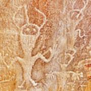 Usa, Utah And Colorado, Dinosaur National Monument, Petroglyphs Art Print