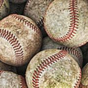 Used Baseballs Print by Wade Aiken