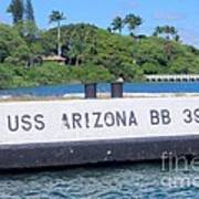 Uss Arizona Bb 39 Marker Art Print