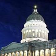 Utah Capitol Building At Twilight Art Print