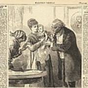 Vaccinating The Baby Against Smallpox Print by Everett