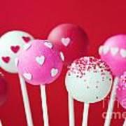 Valentine Cake Pops Art Print