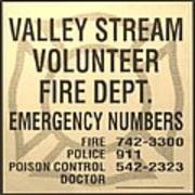Vallet Stream Fire Department In Sepia Art Print