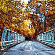 Valley Green Road Bridge In Autumn Art Print by Bill Cannon