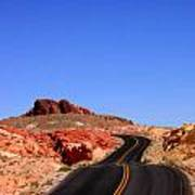 Valley Of Fire Road And Sky Nevada Art Print