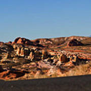 Valley Of Fire Winding Road Art Print