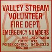 Valley Stream Fire Department Print by Rob Hans