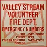 Valley Stream Fire Department Art Print