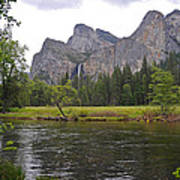 Valley View Of Bridalveil Falls Art Print