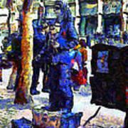 Van Gogh Is Captivated By A San Francisco Street Performer . 7d7246 Art Print