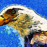 Van Gogh.s American Eagle Under A Starry Night . 40d6715 Art Print