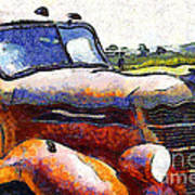 Van Gogh.s Rusty Old Truck . 7d15509 Art Print by Wingsdomain Art and Photography
