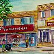 Van Horne Bagel With Yangzte Restaurant Art Print