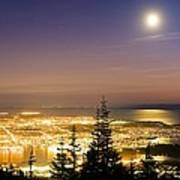 Vancouver At Night, Time-exposure Image Art Print