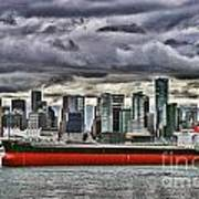 Vancouver Freighter Hdr Art Print