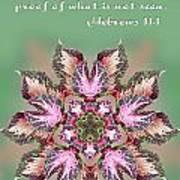 Varigated Foliage Star Heb. 11v1 Art Print