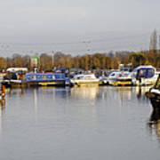 Various Boats At Barton Marina Art Print