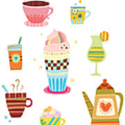 Various Drinks Art Print