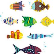 Various Fishes Art Print