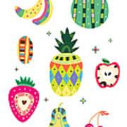 Various Kinds Of Fruit Art Print
