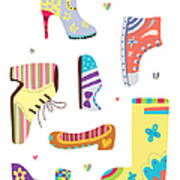 Various Kinds Of Shoes Art Print