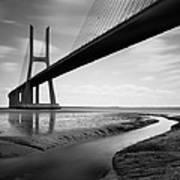Vasco Da Gama Bridge Iv Art Print by Nina Papiorek