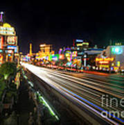 Vegas Light Trails Art Print