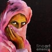 Veiled Beauty Art Print