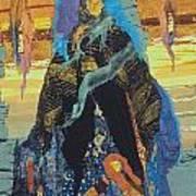 Veiled Woman With Spirit Child Art Print by Roberta Baker