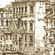 Venice Canals Detail 1 Art Print