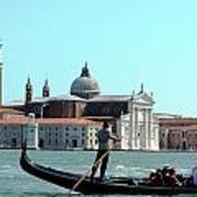 Venice From A Gandola Art Print