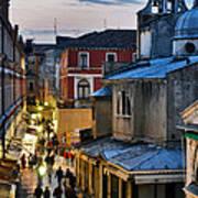 Venice From Ponte Di Rialto Art Print