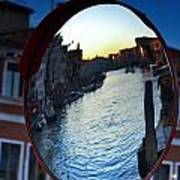 Venice Grand Canal Mirrored Art Print