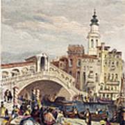 Venice: Rialto, 1833 Art Print