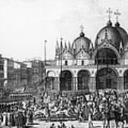 Venice: Saint Marks, 1797 Art Print