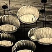 Vented Lights In Sepia Art Print