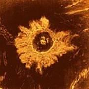 Venus, Synthetic Aperture Radar Map Art Print