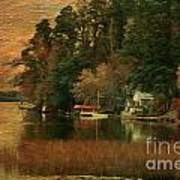 Vermont Autumn Shoreline Art Print