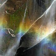 Vernal Falls Rainbow At Yosemite Art Print