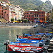 Vernazza's Harbor Art Print